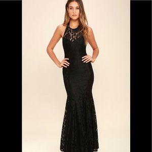 Black Lace Maxi Dress By Lulus